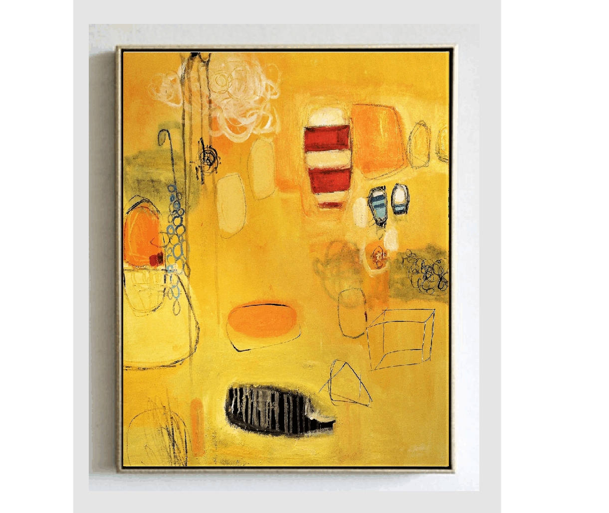 abstract painting 40x32 wall art canvas nice large original painting ...
