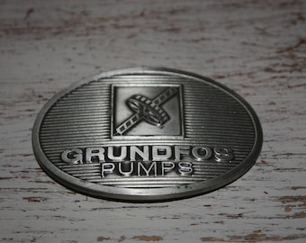 Vintage GROUNDFOS PUMPS Belt Buckle
