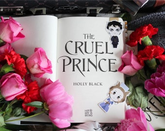 Cardan and Jude - Cruel Prince - Magnetic bookmarks (BIG) || the folk of the air, faerie, holly, cruel prince bookmark, wicked king