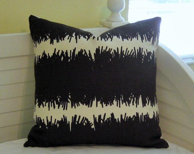 Studio Bon Bang Chocolate Linen Designer Pillow Cover 20x20
