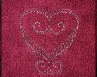 Feathered Heart Quilt