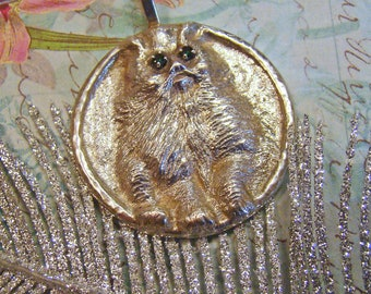 Amazing Gallery Artist Detailed Cat Pendant piece signed BERNHARDT and STERLING on back