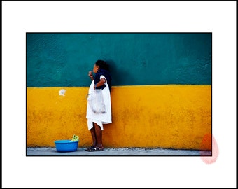 Latin American Street Photography Download, Mexican Wall Art, Printable Photo Wall Decor, Mexico, Latin America Home Decor, Blue and Yellow