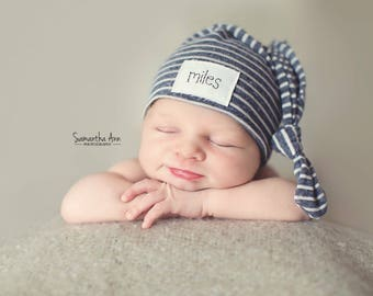 Baby name hat, Newborn hat, knot hat, baby hat, hospital hat, sleepy cap, baby name hat, twin hats, basic beanie,personalized baby hat