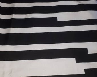 Hig Quality Stripes Cotton Fabric, Black and White Fabric by the Yard, Limited edition fabric