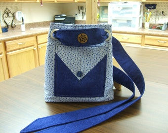 Fabric purse, Light Blue Purse, Shoulder Bag, Purse