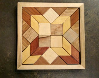 Parquetry Puzzle – exotic wood patterns