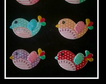 See of SIX little birdie super strong fridge magnets