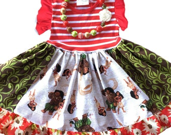 Moana dress Disney Princess dress Christmas dress Princess dress Momi boutique custom dress