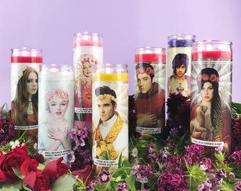 Celebrity Saint Candle | Celeb Prayer Candle