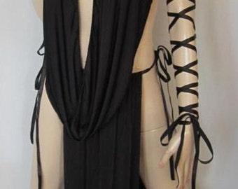 Gorean Slave Role Play Costume-Oring ties_ All year-For your Kajira fingerless gloves- ZanzaDesigns