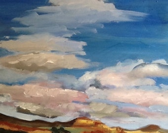 Ghost Ranch Outside Santa Fe - Original Oil Painting