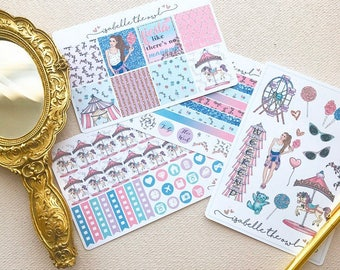 Candy Carnival Erin Condren Horizontal Sized Weekly Kit Planner Stickers