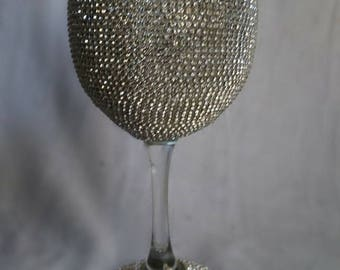 11 oz Gemstoned Wine Glass