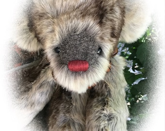 Christian, OOAK Artist Teddy Bear, BearFolk & Friends, Lil Darlin Original, Teddy Bear, Original Pattern, Handmade Teddy Bear