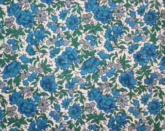 SALE - Liberty tana lawn printed in Japan -  Rosalind  - Blue