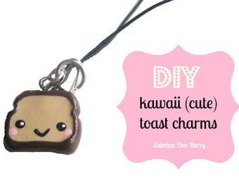 DIY Kawaii Toast Charms - Polymer Clay Tutorial by berrysweettreats on Etsy
