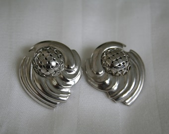 Whiting and Davis Vintage Silver Earrings