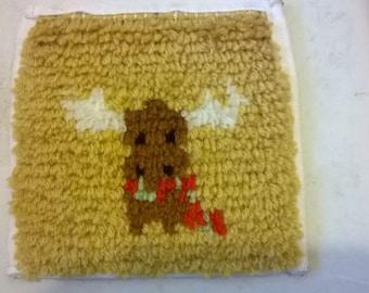 novelty reindeer latch hook rug