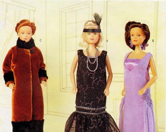 Butterick Sewing Pattern 6798 - The Delineator Girls - Circa 1925 Doll Clothes Pattern - For 11 1/2 Inch Dolls - Collectible Doll Clothes