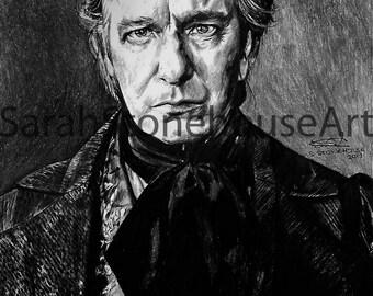Judge Turpin Pencil Drawing Print