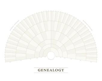 Blank Genealogy Fan Chart