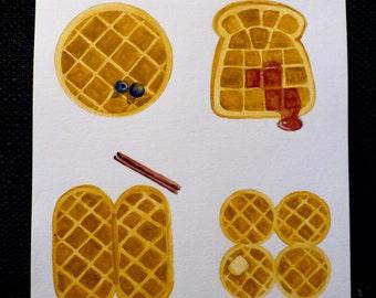 Waffle Watercolor