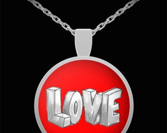 LOVE Jewelry Valentine's Day Sweetheart Necklace Gift