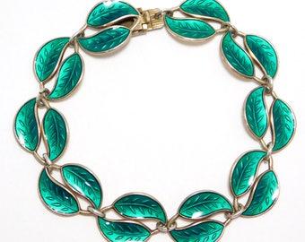 Sterling David Andersen Leaf Bracelet 925S Norway