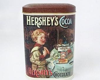 1984 Hershey's Coco Tin, Hershey's Chocolate Tin
