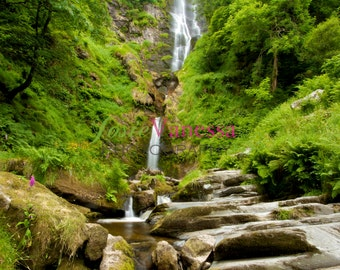 Art Photography Print of Pistyll Rhaeadr Waterfall Wales