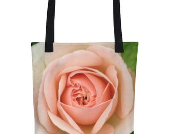 Pink Rose Tote Bag - Floral - Beach Bag - Grocery Bag - Gifts for Her