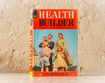 The HEALTH BUILDER Encyclopedia (1959, J.I. Rodale,) Vintage Book, 1950's Book Prop, Mid Century, Health Fitness Diet, Fifties Americana