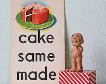Vintage CAKE School Poster