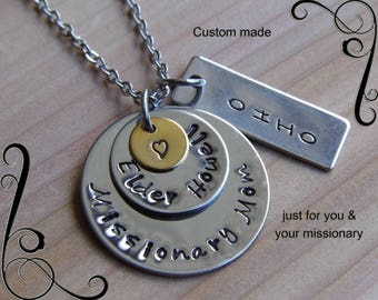 Missionary Mom necklace-Missionary Mom gift-Missionary Jewelry-Missionary Mom jewelry-LDS jewelry, Mission jewelry, mormon gift for mom