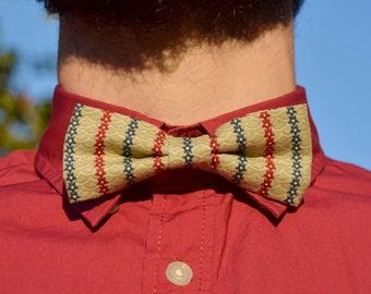 Blue&Red star pattern bowtie  - Adjustable - Unisex
