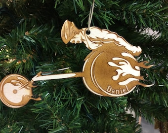 Wheelchair Racing Personalized Christmas Ornament