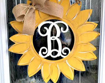 Sunflower door hanger, summer door hanger, fall door hanger, sunflower, door hangers, wooden door hangers, door decor, summer