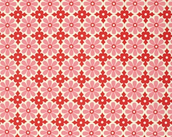 Heather Bailey Fabric by the Yard - Snapdaisy in Peppermint - Ginger Snap by Heather Bailey - Quilter's Cotton