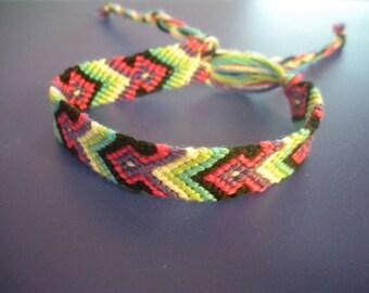 Spring Love Chevron Ribbon Bracelet
