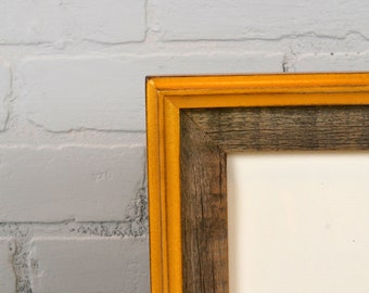 Vintage Color of Your Choice in Rustic Cedar Build Up Style - Choose your extra large frame size   11x17, 12x18, 14x14 and more up to 16x20""