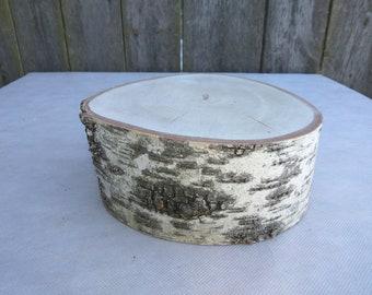 "7""-8"" Large Birch Wood Slice, 7-8 inch wood slab, Rustic Wedding Decor, Cake Stand, Wedding Centerpiece, Large Birch Wood stand"
