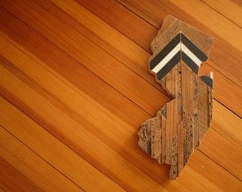 reclaimed pine [chevron] jersey cutout