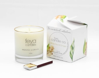 White Tea & Ginger Feya Candle