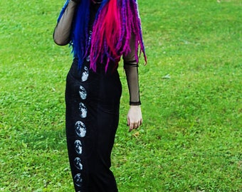Circuit Witch 4x6'' Print - Gothic Witch Synthetic Dreads Cybergoth Cyber Goth Alt Alternative Model Gothic