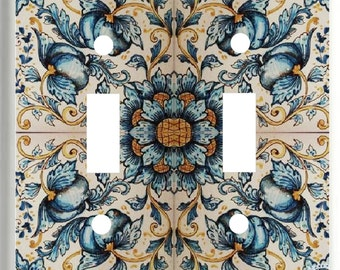 Image of French Floral Tile  Light Switch Cover Plate or Outlet   Home  Decor  Free Shipping in U.S.!!!