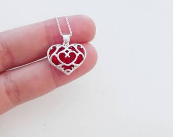 Legend of Zelda heart container sterling silver plated in 18k gold