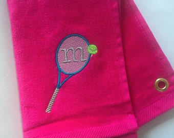 Personalized Tennis Towels - Several Colors!