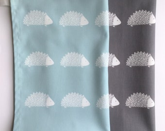 Hedgehog Tea Towel -  Three Colours, Gift For Her, Gift For Him, Gift For Cook, High Quality, Stylish,Made in UK