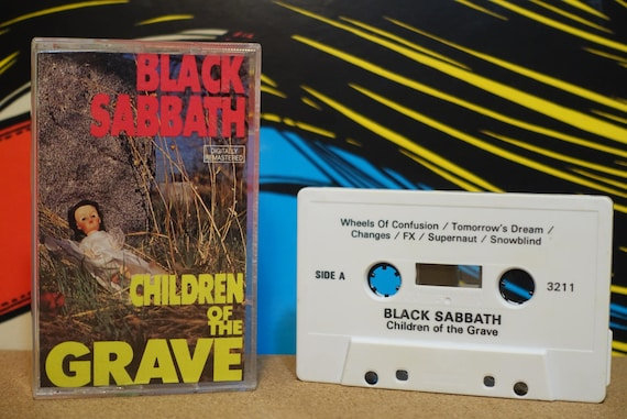 Children Of The Grave by Black Sabbath Vintage Cassette Tape